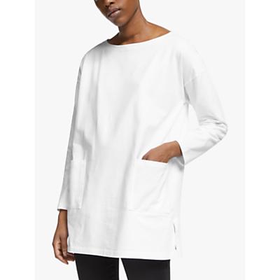 eileen fisher organic cotton tunic top, white