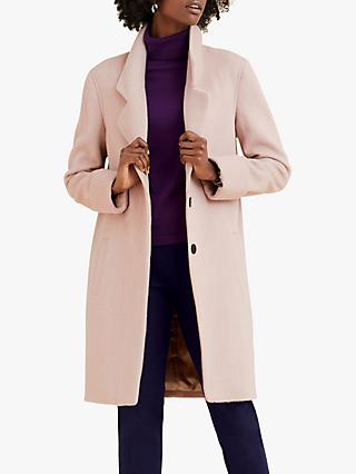 Pure Collection Revere Collar Coat, Oyster