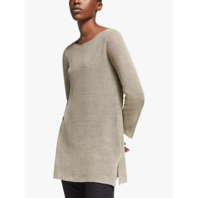 eileen fisher organic linen tunic jumper, khaki
