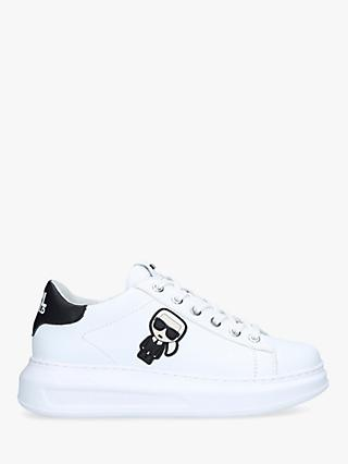 KARL LAGERFELD Kapri Leather Low Top Trainers, White