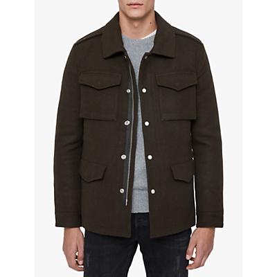 AllSaints Kadleston Military Coat, Cocoa Brown