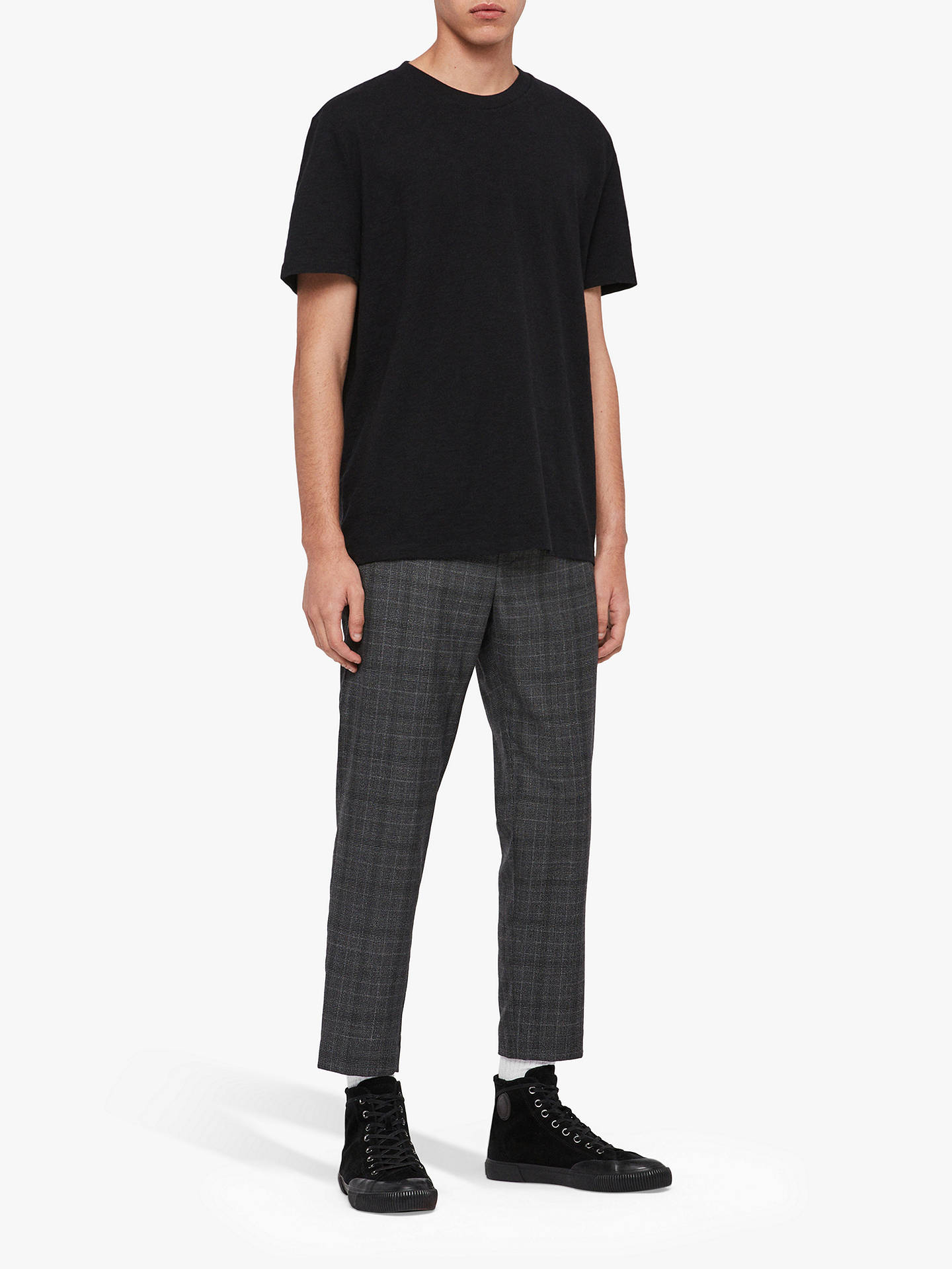 Buy AllSaints Sage Crew Neck T-Shirt, Jet Black, XS Online at johnlewis.com
