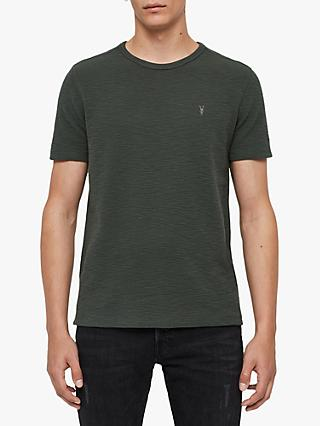 AllSaints Muse Short Sleeve T-Shirt, Pewter Green