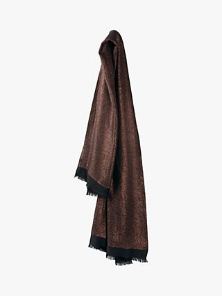hush Lucetta Lurex Scarf, Black/Copper