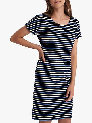 Barbour Harewood Stripe Dress, Navy