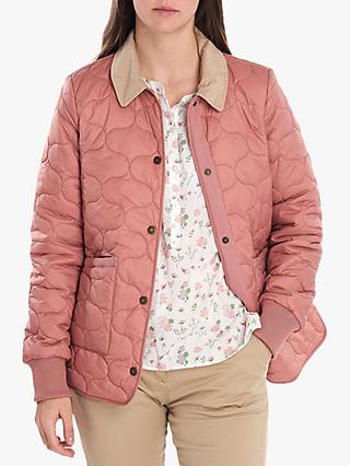 Barbour National Trust Harebell Onion Quilted Jacket, Rustic Pink