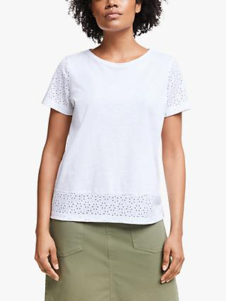 Collection WEEKEND by John Lewis Daisy Burnt Out Top, White