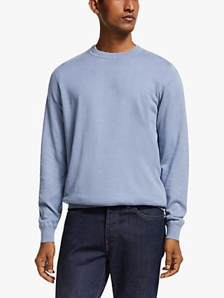 John Lewis & Partners Cotton Linen Crew Jumper