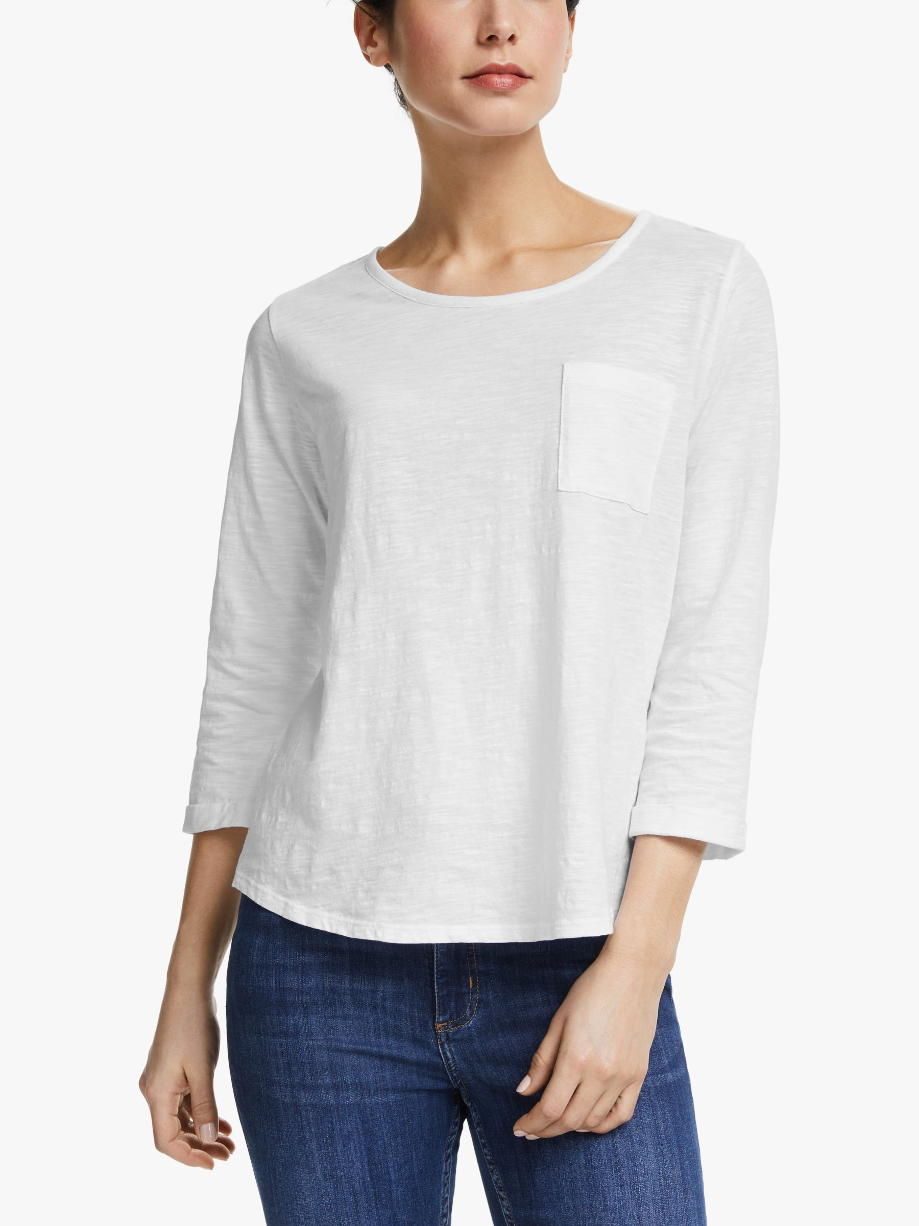 Collection WEEKEND by John Lewis Collection WEEKEND by John Lewis 3/4 Sleeve Slub T-Shirt