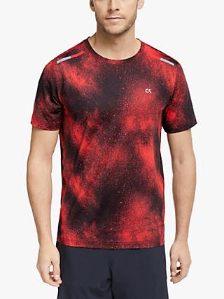 Calvin Klein Short Sleeve Performance T-Shirt, Flashing Red Splatter