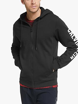 Calvin Klein Performance Zip Up Hoodie, Black