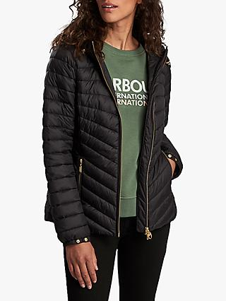 Barbour International Ringside Hooded Quilted Jacket