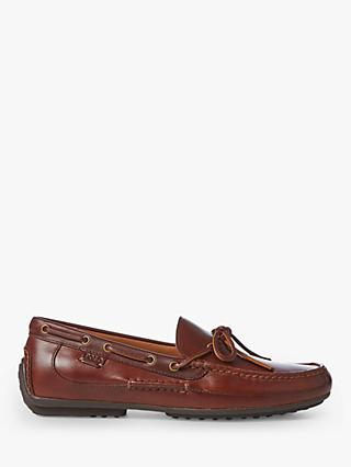 Polo Ralph Lauren Roberts Leather Driver Loafers, Deep Saddle Tan