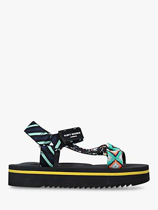Kurt Geiger London Olivia Patterned Embellished Sporty Sandals