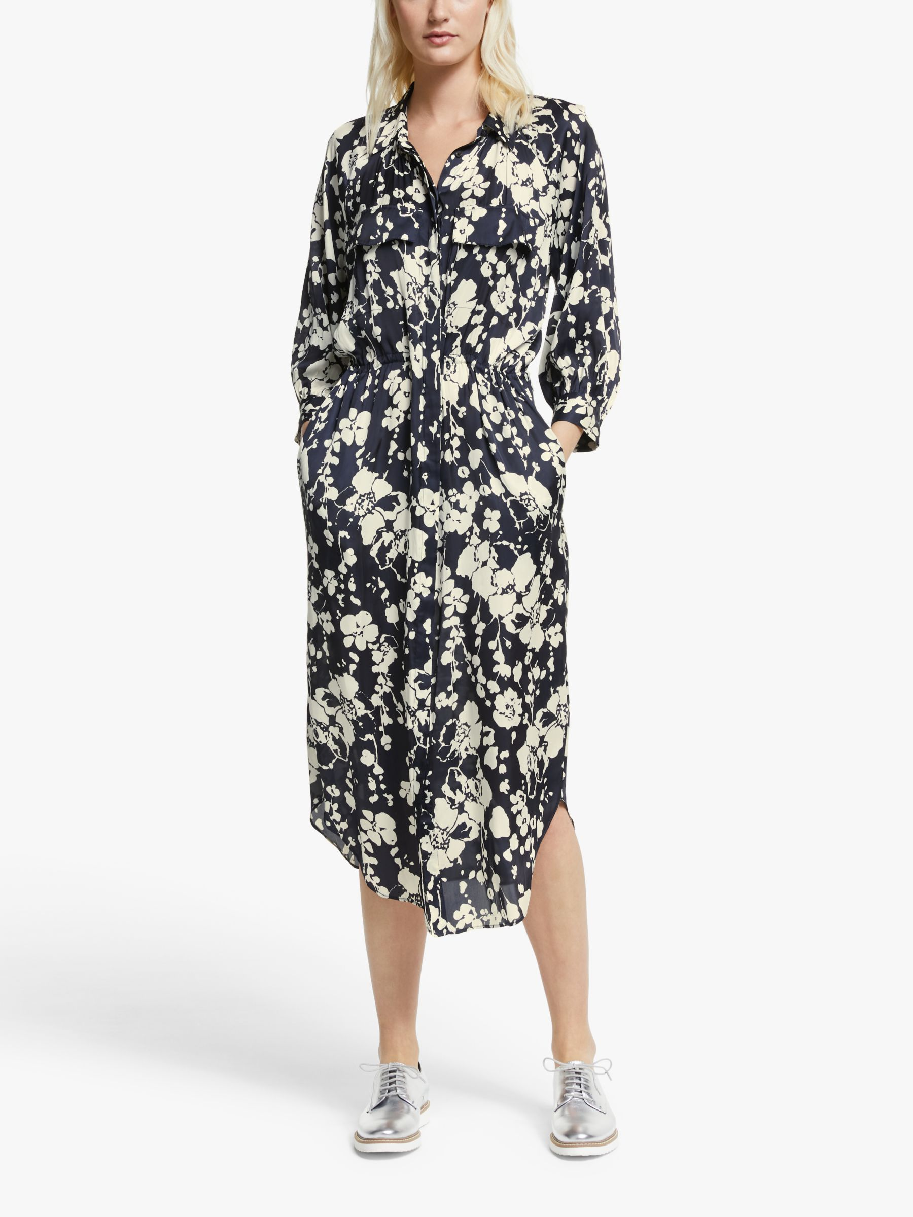 Joie Joie Emmalynn Floral Midi Dress, Midnight