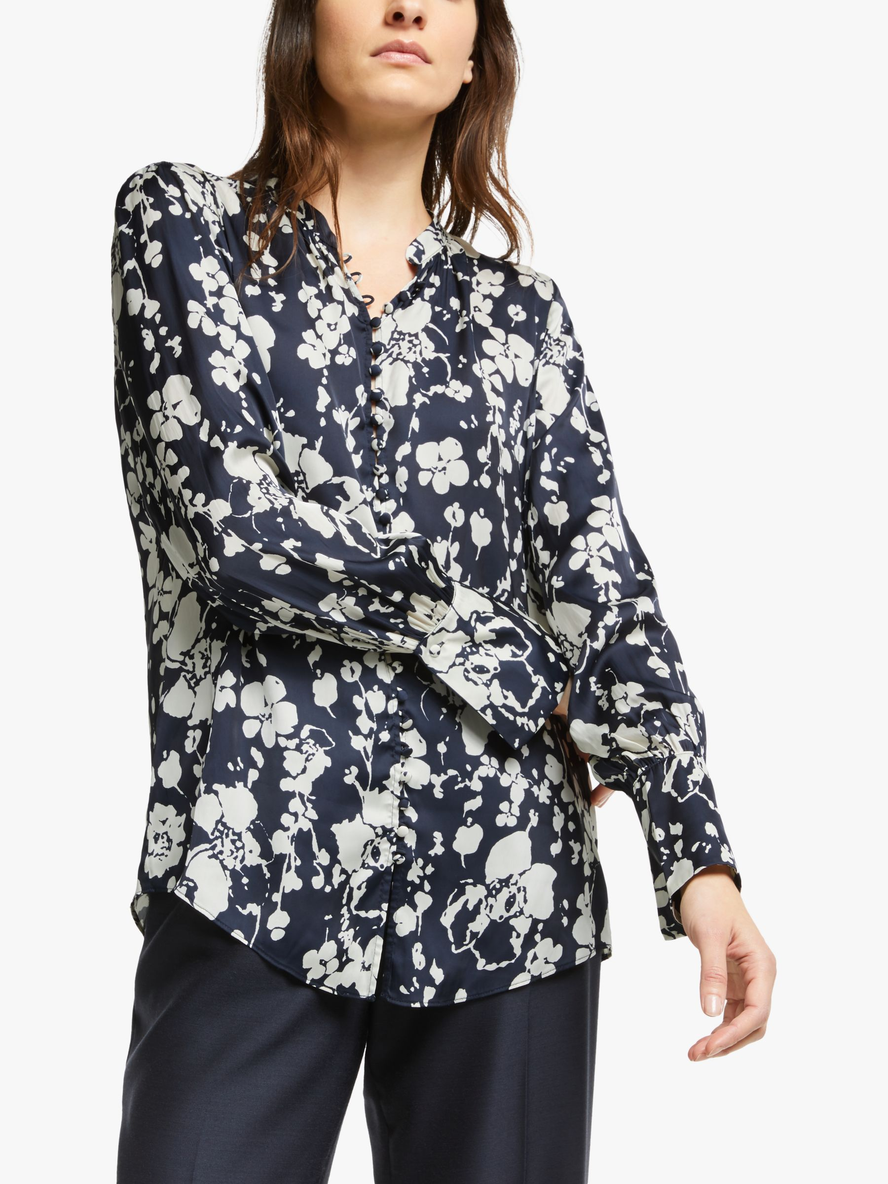Joie Joie Tariana Floral Print Blouse, Midnight