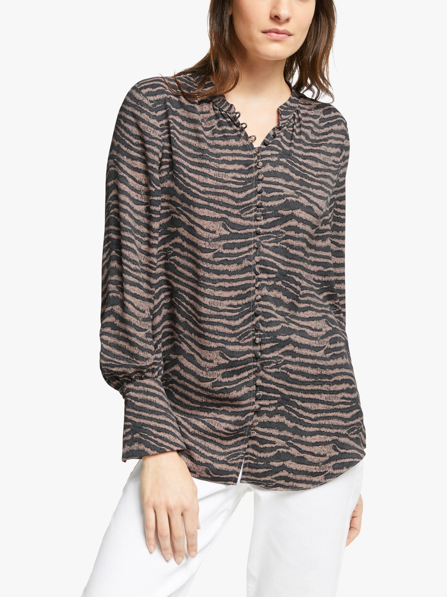 Joie Joie Tariana Animal Print Blouse, Ginger