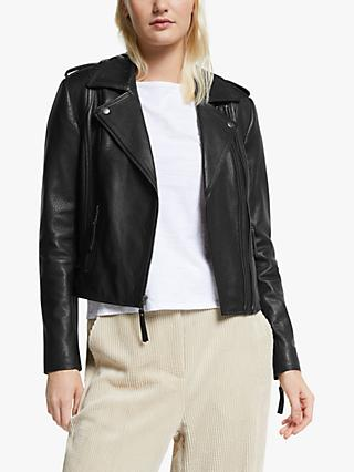 Joie Leolani Leather Jacket, Caviar