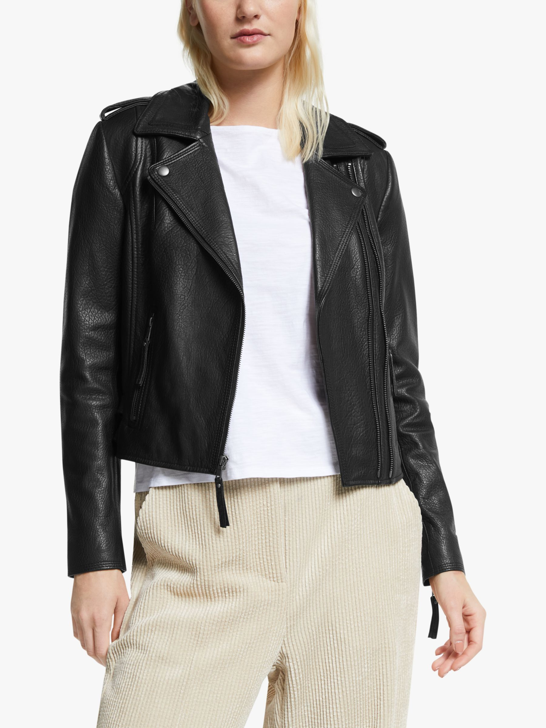 Joie Joie Leolani Leather Jacket, Caviar