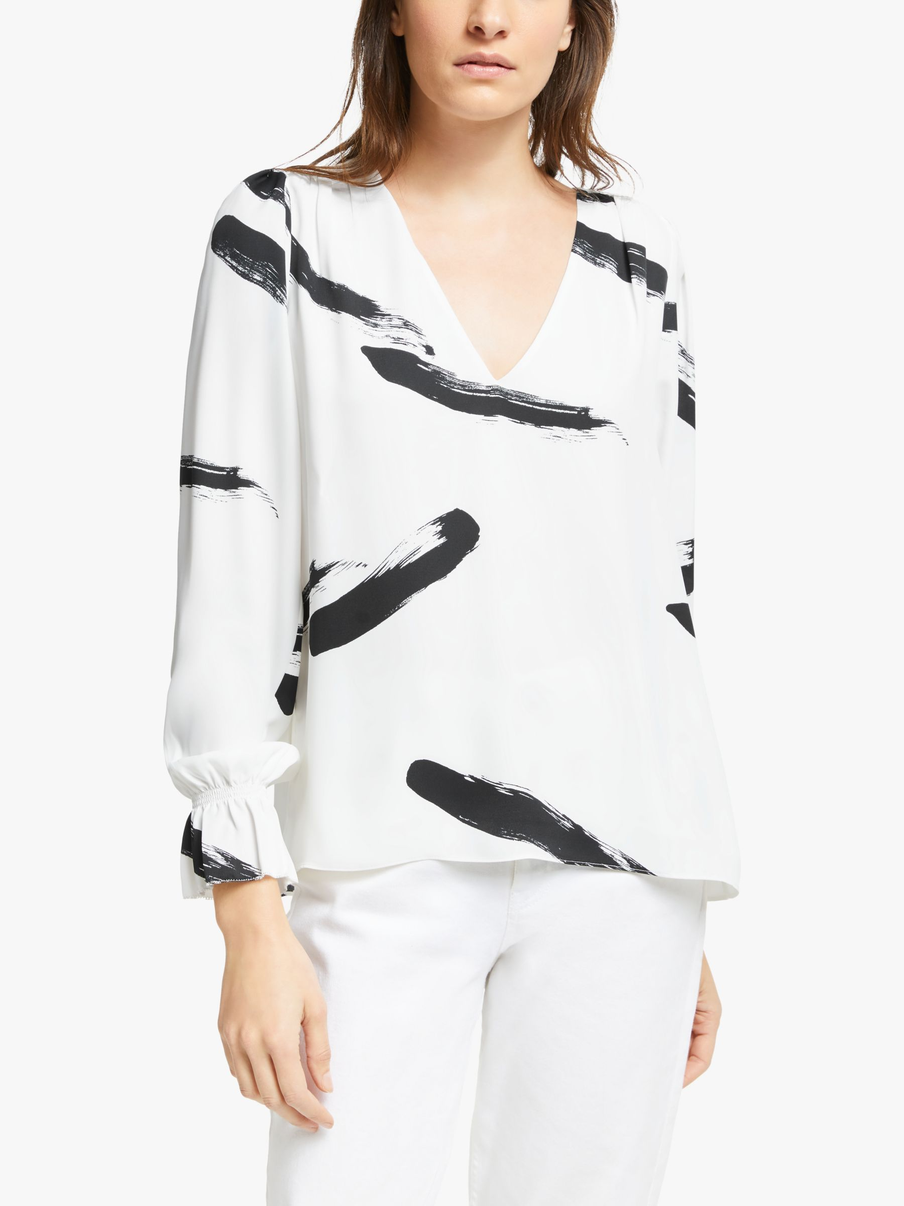 Joie Joie Bolona Abstract Print Blouse, Porcelain