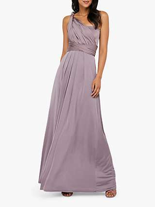 Monsoon Tallulah Multi Tie Bridesmaid Dress, Mocha
