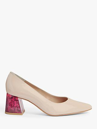 John Lewis & Partners Anastasia Feature Heel Pointed Court Shoes