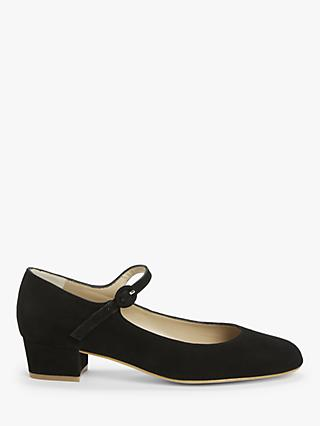 John Lewis & Partners Adora Suede Mary Jane Court Shoes, Black