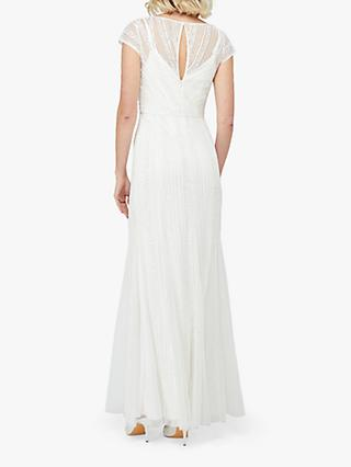 Monsoon Nora Bridal Embellished Maxi Dress, Ivory