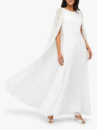 Monsoon Naomi Bridal Embellished Cape, Ivory