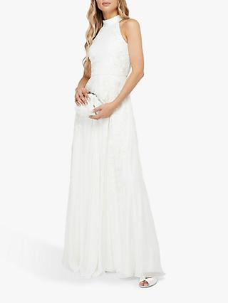 Monsoon Ethel Embellised Lace Bridal Gown, Ivory