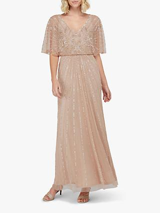 Monsoon Tabitha Embellished Maxi Dress, Pink