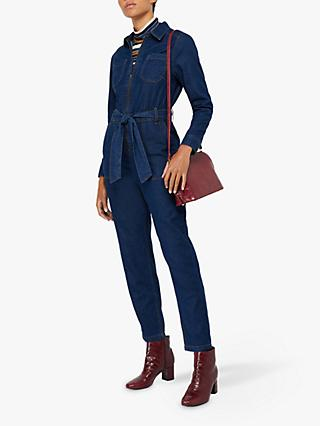 Monsoon Bertie Denim Boilersuit, Blue