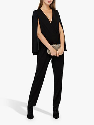 Monsoon Kris Cape Jumpsuit, Black