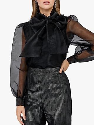 Monsoon Oprah Organza Bow Blouse