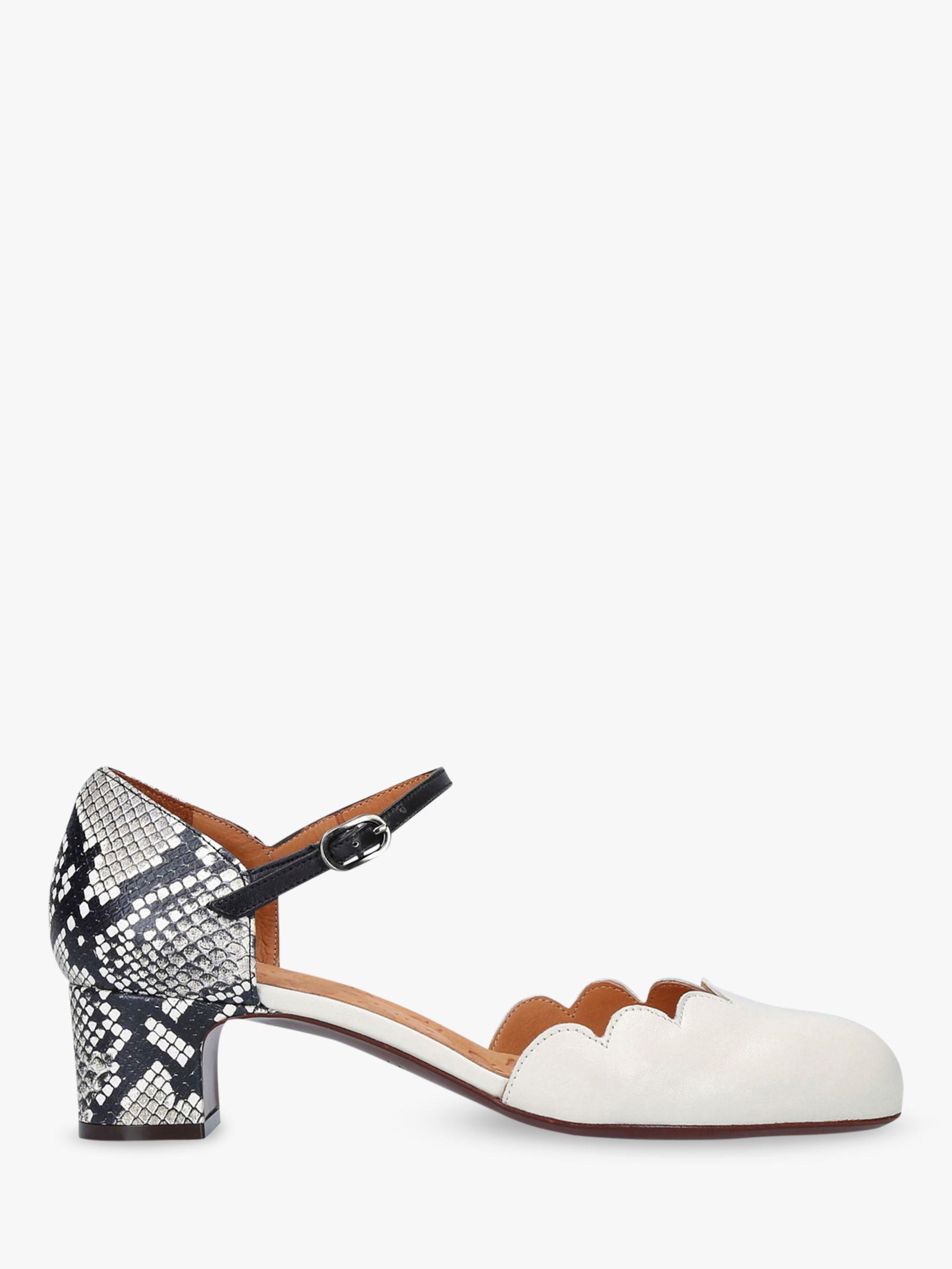 Chie Mihara Chie Mihara Uma Two Part Block Heel Court Shoes