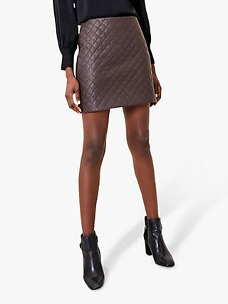 Oasis Diamon Faux Leather Mini Skirt