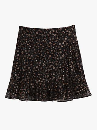 Oasis Star Lace Mini Skirt, Black