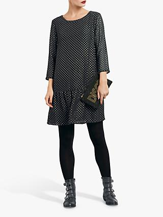 hush Joelle Print Dress, Metallic Spot