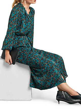 hush Blaire Ruffle Neck Dress, Abstract Skin Print