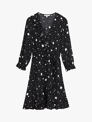 Oasis Star Skater Dress, Black/White