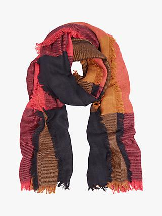 Oasis Large Check Blanket Scarf, Pink/Multi