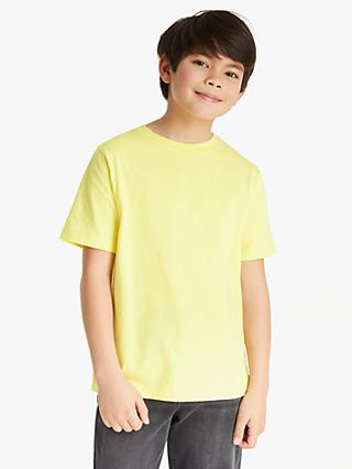 Kin Boys' Basic Cotton T-Shirt, Yellow