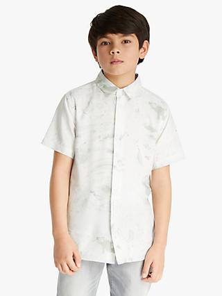Kin Boys' Marble Shirt, White