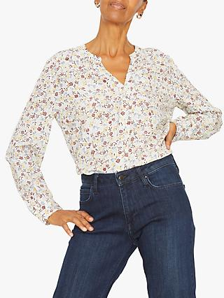 Jigsaw Scattered Silk Blouse, Ivory