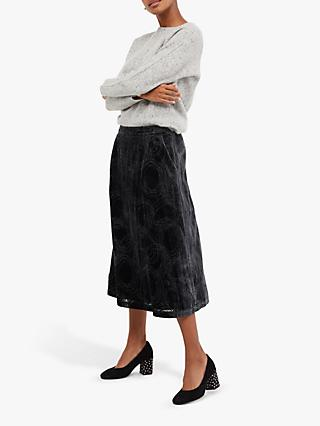 White Stuff Gallery Devore Skirt, Grey
