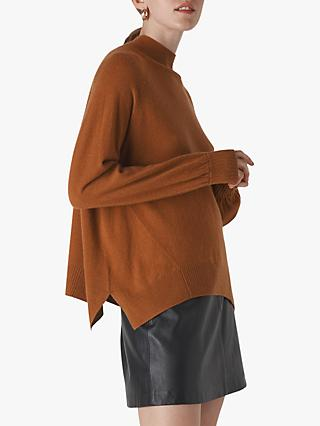 Whistles Cashmere Funnel Neck Jumper