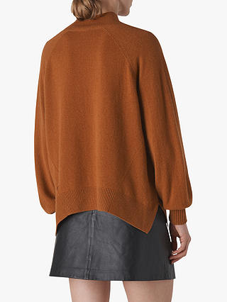Buy Whistles Cashmere Funnel Neck Jumper, Toffee, XS Online at johnlewis.com