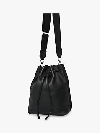 Whistles Barton Soft Bucket Bag, Black