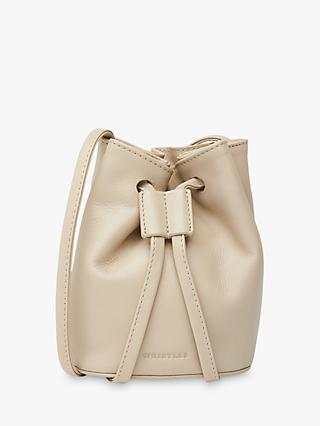 Whistles Ammie Leather Mini Drawstring Bag