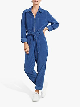 hush Cord Boiler Suit, Bright Blue